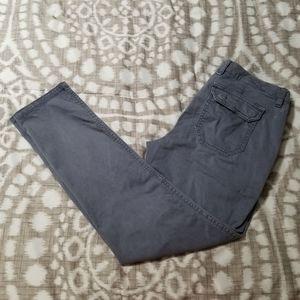 GAP Size 4 Skinny Utility Khakis Gray Pants
